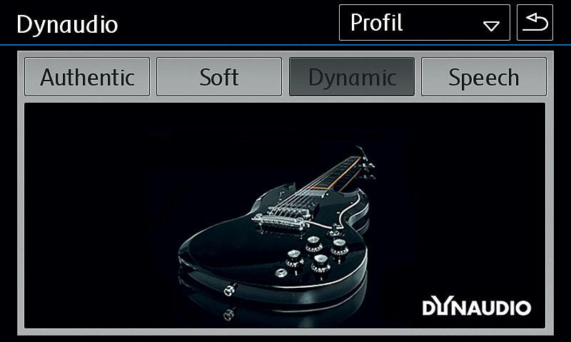 一部グレードでは、プレミアムサウンドシステム「Dynaudio サウンドシステム」をオプション設定