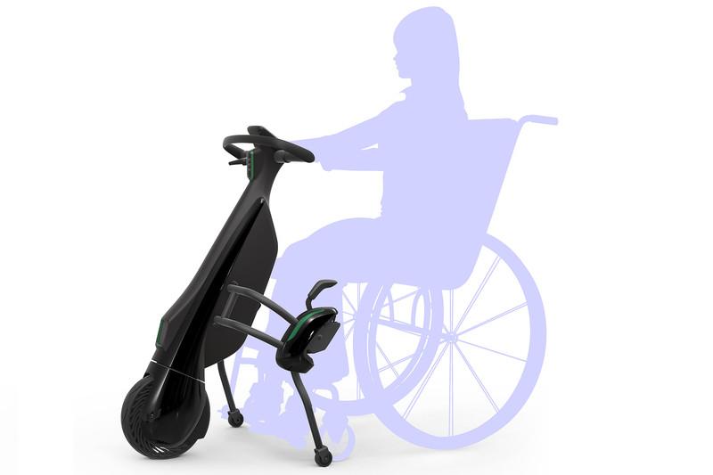 大規模施設や観光地などでの手動車いすの人へのレンタルを想定した車いす連結タイプ(2021年発売予定)