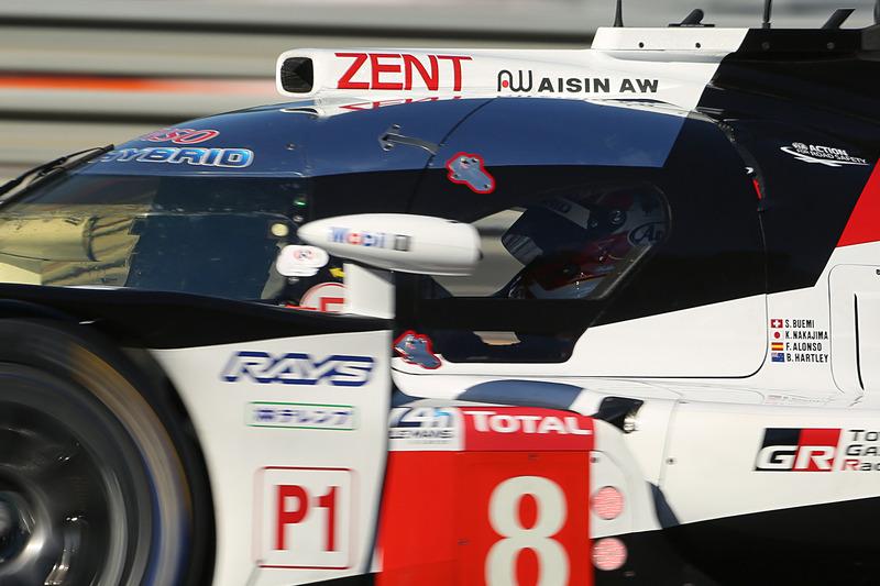 ブレンドン・ハートレー選手の名前も入ったトヨタ 8号車