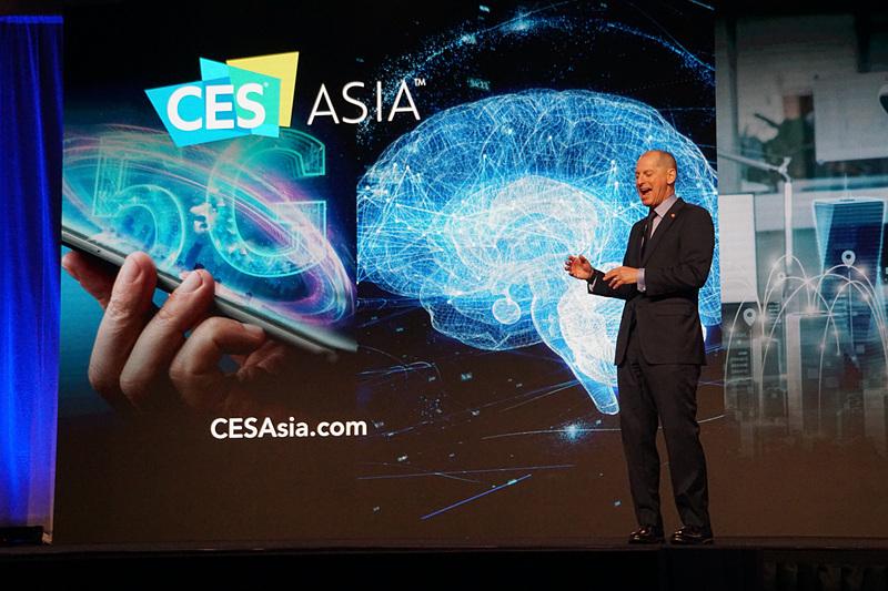 自動車技術、5G、AIといったショーの領域を紹介