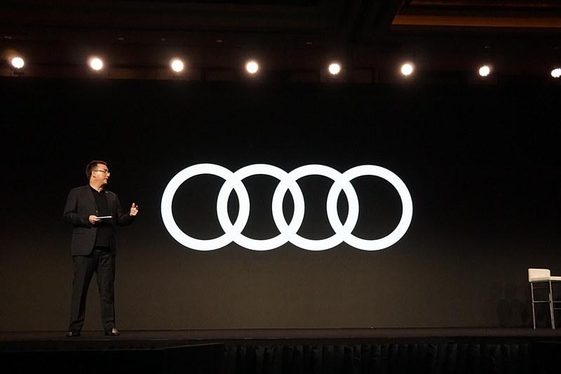 アウディ中国の社長 Thomas Owsianski氏による基調講演では、「Audi connect」「V2X」「holoride」「Audi AI:ME」といった4つの新しいテクノロジーが紹介された