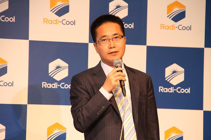 ラディ クール ジャパン株式会社 取締役 Radi-Cool放射冷却製品開発担当者の楊栄貴氏