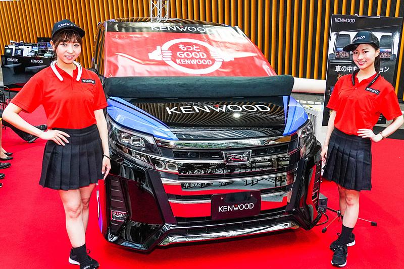 「OTOTEN 2019」でJVCケンウッドはトヨタ自動車「ノア」をデモカーとして展示した