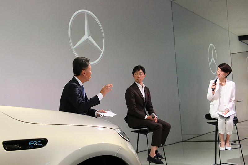 新たにメルセデス・ベンツのブランド・アンバサダーに就任した武豊さんとトークセッションを実施