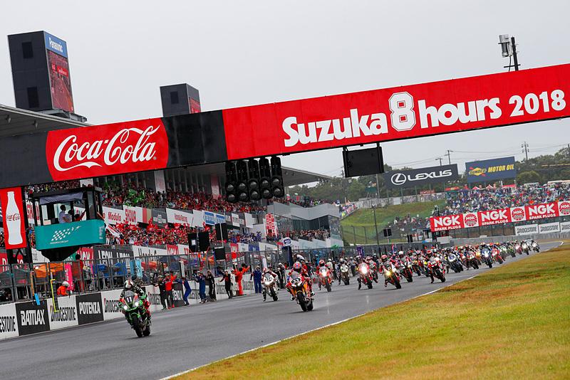 2018年の鈴鹿8耐スタートシーン