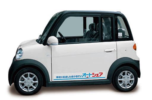 シェアリングに使われるタジマモーターコーポレーションの超小型EV「ジャイアン」