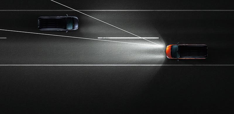 アダプティブLEDヘッドライトシステムの動作イメージ