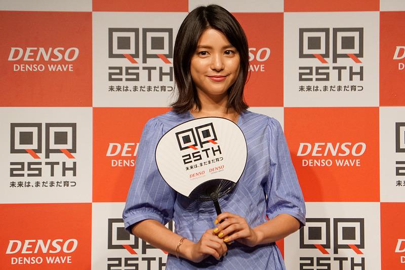 QRコード25年の進化を振り返る「QRコード25周年記念 PRイベント~未来は、まだまだ育つ~」に登場した川島海荷さん
