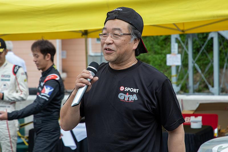 D-SPORTの松尾光洋氏は、基礎練習をする場なので目を三角にしてがんばるのではなく、肩の力を抜いて1日を有意義に楽しんで欲しいと語った