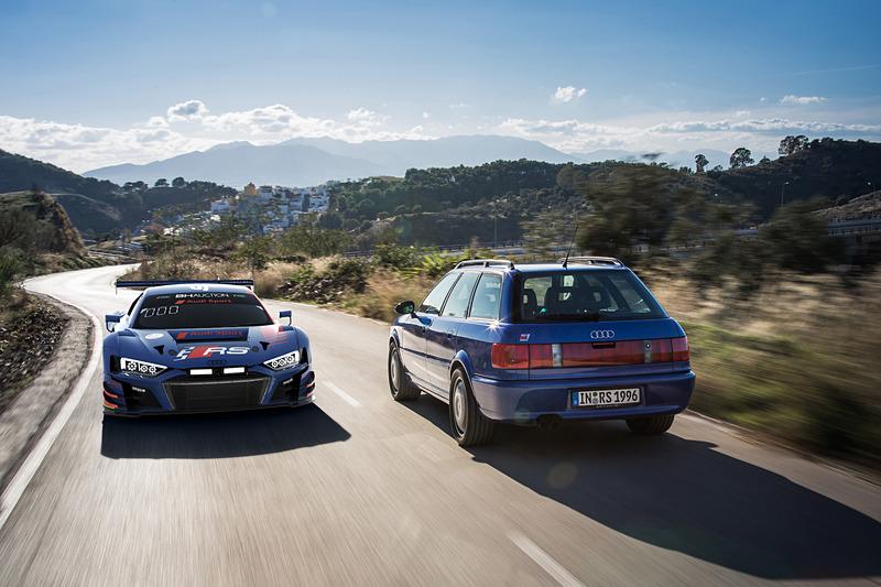 Audi Sport Team WRTのAudi R8 LMSは、歴代のRSモデルに共通する伝統のイメージカラー「ノガロブルー」を採用