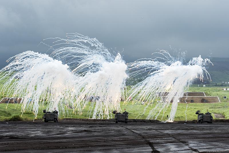 対空、戦車火力で突撃、殲滅を行ない演習が終了