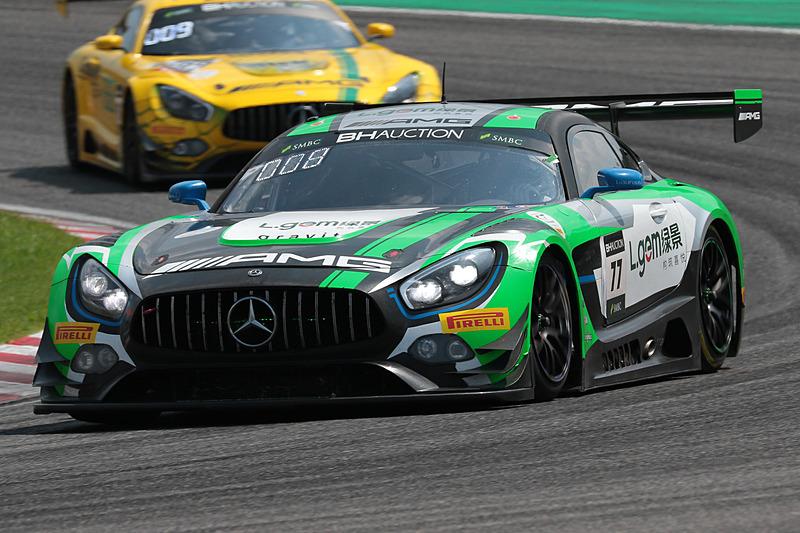 77号車 Mercedes-AMG GT3(Mercedes-AMG Team CraftBamboo Racing、マキシミリアン・ゲーツ/ルカ・シュトルツ/イェルマー・ブルマン組)
