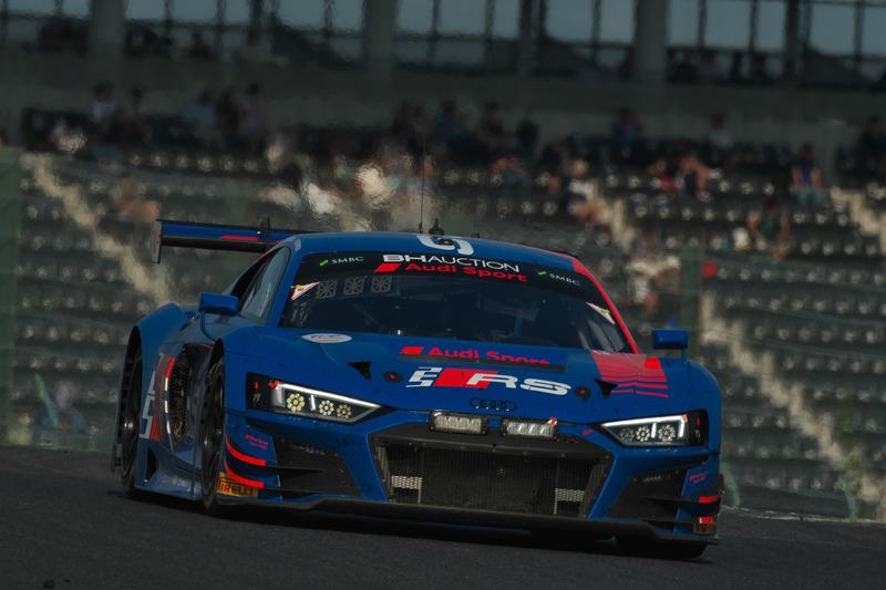 優勝した25号車 Audi R8 LMS GT3 Evo(Audi Sport Team WRT、ケルビン・ファン・デル・リンデ/ドリス・バンスール/フレデリック・ヴェルヴィッシュ組)