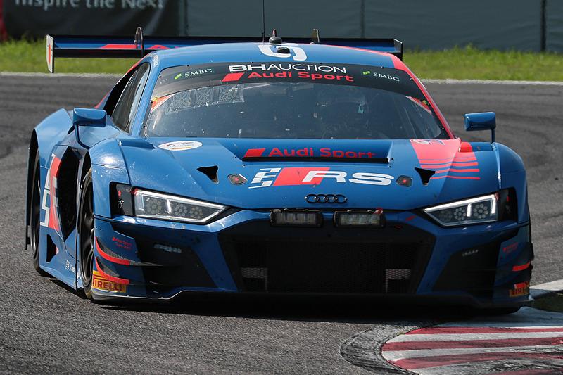 25号車 Audi R8 LMS GT3 Evo(Audi Sport Team WRT、ケルビン・ファン・デル・リンデ/ドリス・バンスール/フレデリック・ヴェルヴィッシュ組)