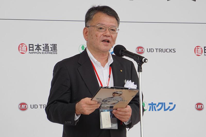 日本通運株式会社 代表取締役副社長 竹津久雄氏