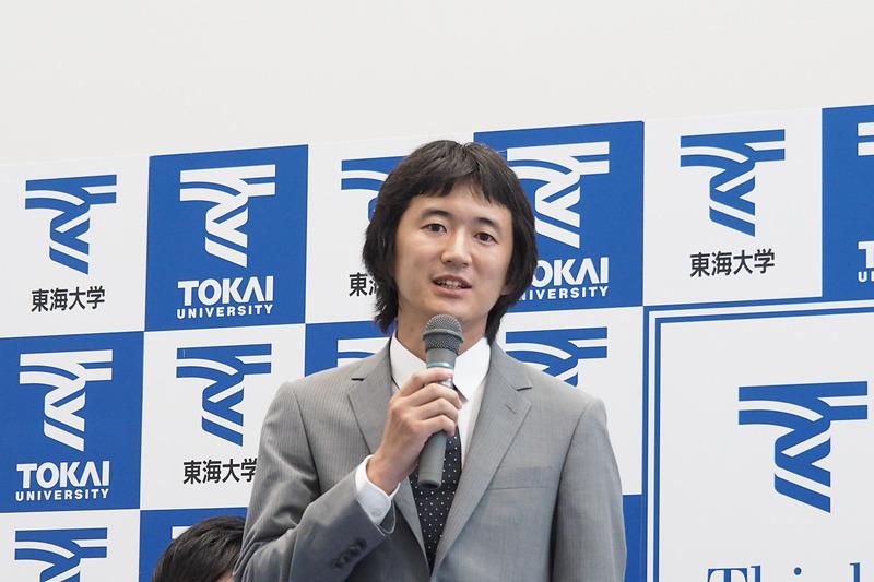 ソーラーカーチーム総監督の工学部 電気電子工学科 助教の佐川耕平氏