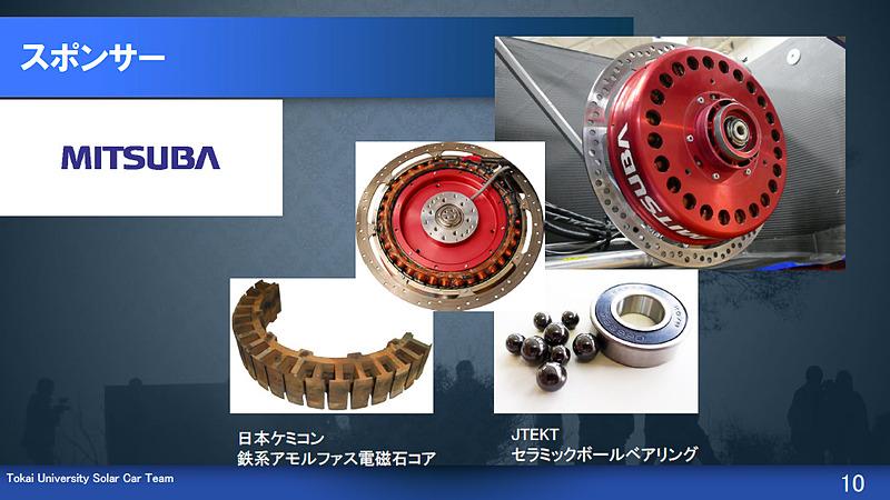ミツバのブラシレスDCダイレクトドライブモーター、ベアリングはェイテクトのセラミックボールベアリング
