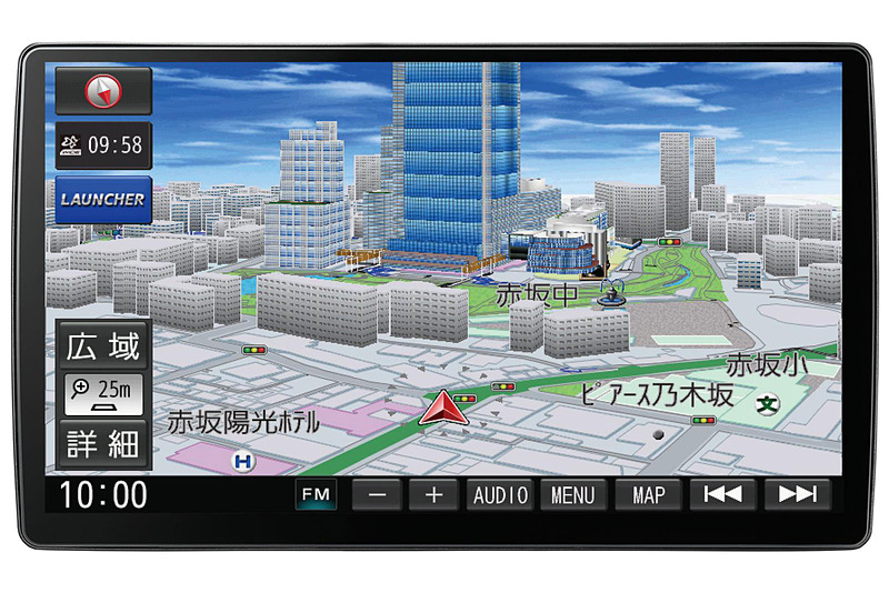10V型フローティング大画面を新採用する「CN-F1X10D」