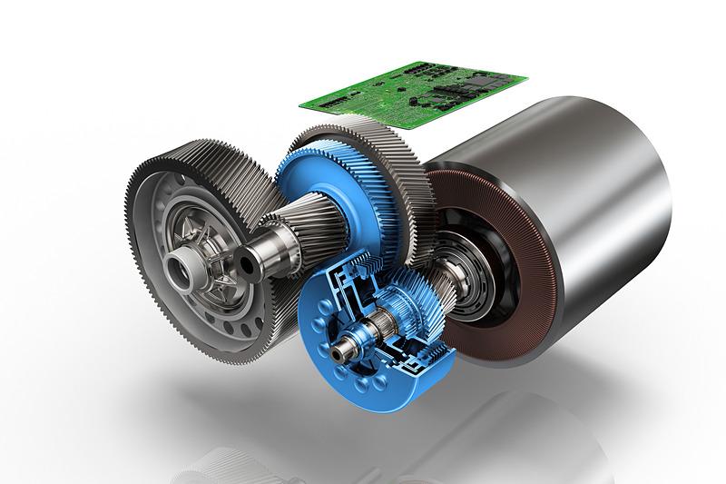 変速機構、パワーエレクトロニクス、コンパクトな電動モーターを統合した乗用車用2速電動ドライブ