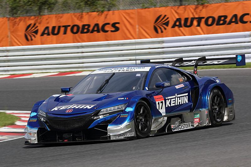 SUPER GT 第6戦の公式予選がオートポリスで行なわれ、17号車 KEIHIN NSX-GT(塚越広大/ベルトラン・バゲット組、BS)がGT500クラス予選トップを獲得
