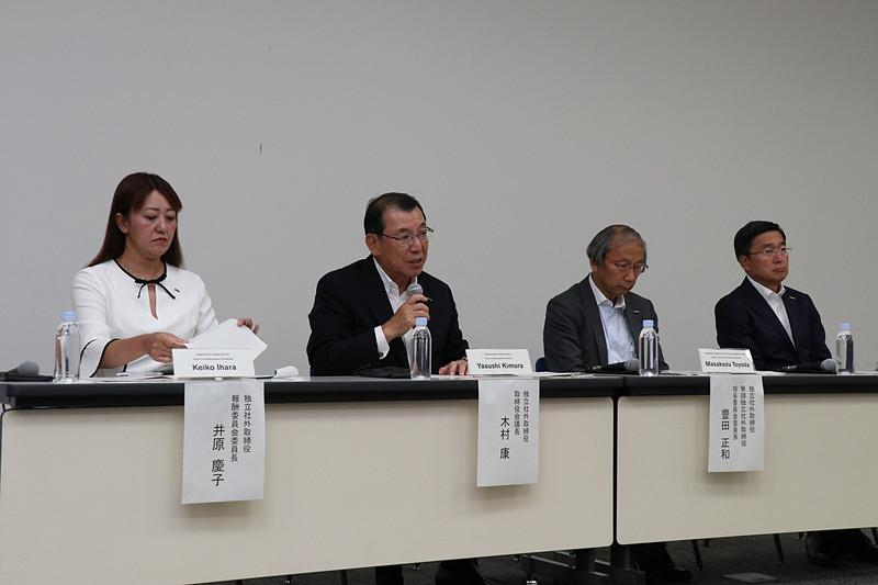 日産自動車本社にて行なわれた記者会見