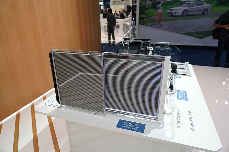 ヴァレオブースに展示されていたバッテリー冷却システム