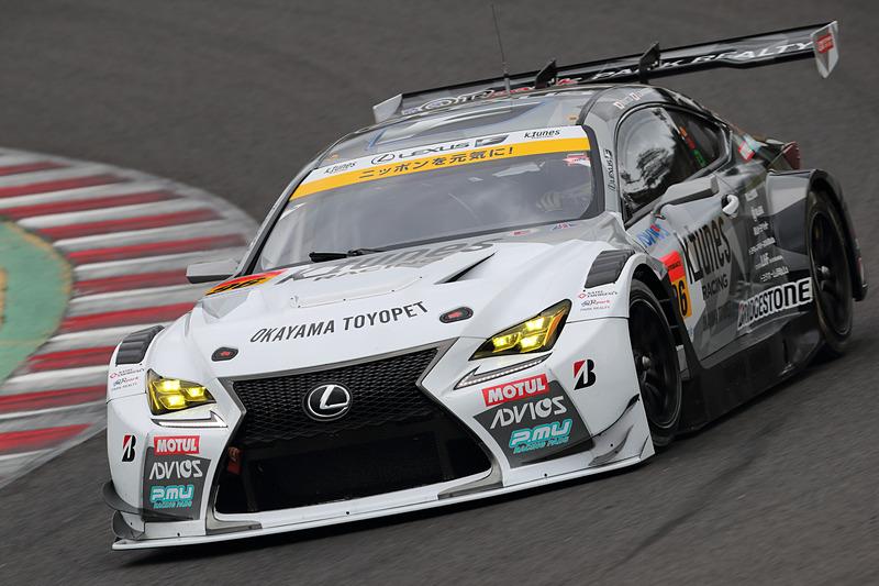 ポイントランキング3位の96号車 K-tunes RC F GT3(新田守男/阪口晴南組、BS)が9位