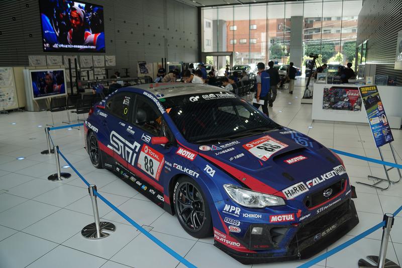 NBR優勝車両は9月19日~29日の期間、エビススバルビル1Fショールームに展示予定