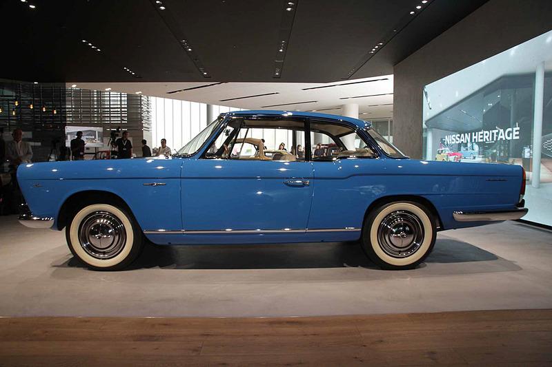 プリンス スカイライン スポーツ クーペ・1960年トリノ国際自動車ショー出品車。車両寸法:4650×1695×1385mm(全長×全幅×全高)、ホイールベース:2535mm。車両重量:1350kg。サスペンション:ダブルウィッシュボーン・ド・ディオンアクスル(前・後)。ブレーキ:ドラム・ドラム(前・後)。タイヤ:5.90-15-4PR。エンジン型式:GB4型(直4 OHV)。排気量:1862cc。最高出力:69kW(94PS)/4800rpm、最大トルク:153Nm(15.6kgfm)/3600rpm
