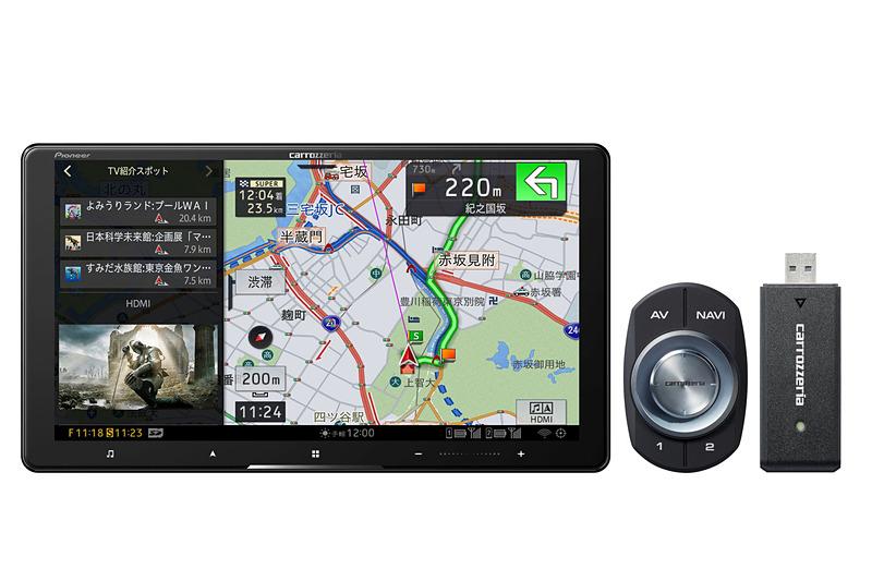 9V型HD/TV/DVD/CD/Bluetooth/USB/SD/チューナー・AV一体型メモリーナビゲーション ネットワークスティックセット「AVIC-CQ910-DC」
