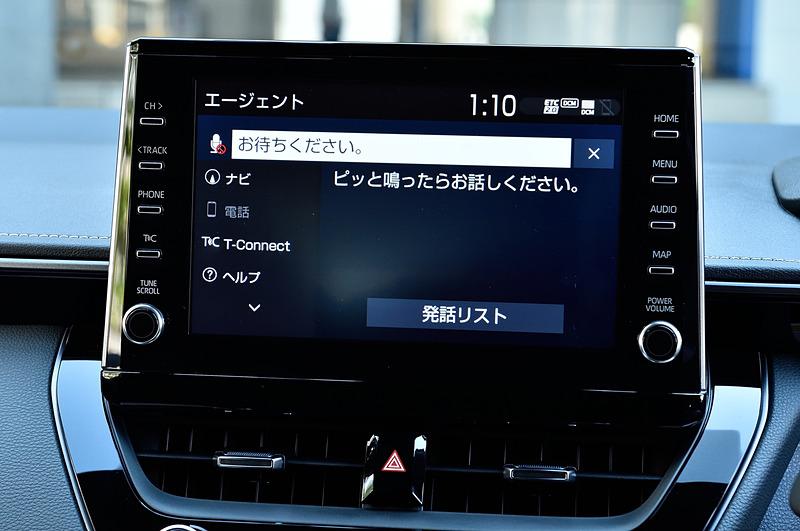 初めて標準装備となったディスプレイオーディオ。スマートフォンとUSB接続することでスマホのアプリを利用できるほか、車載通信機も標準装備されるため、オペレーターサービスを利用できたり、車外でもスマホで車両情報を確認できたりもする