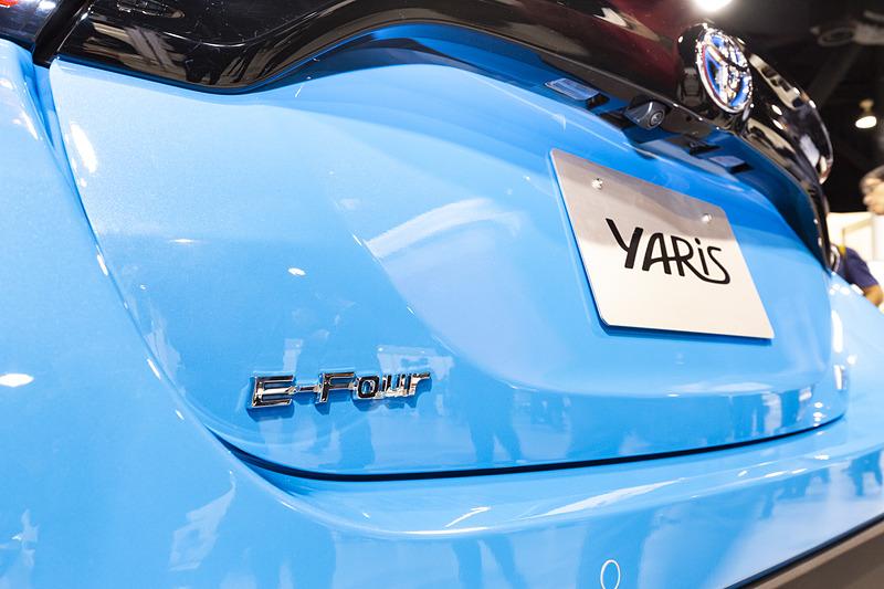 4WDモデルはリアハッチに「E-Four」のバッヂが付く