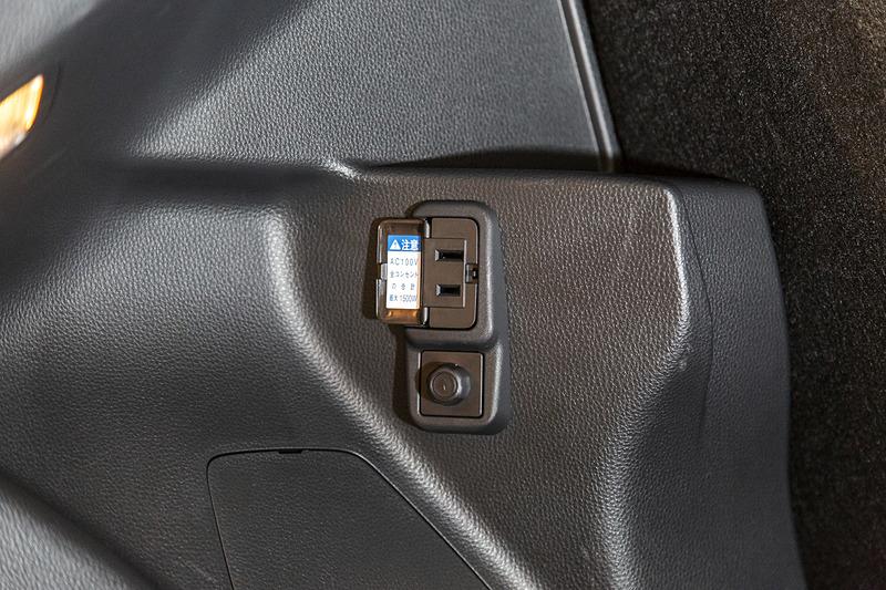 AC100Vアクセサリーコンセントをオプション設定