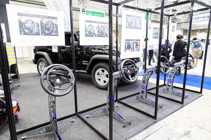 Guidosimplexの手動運転装置は障碍の度合いによって選択可能な、バリエーションの多さも魅力の1つ
