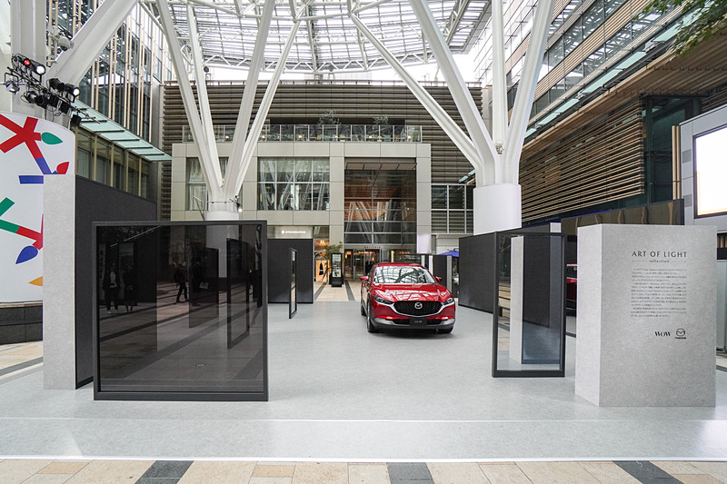 「Tokyo Midtown DESIGN TOUCH 2019」プラザ1階 キャノピー・スクエアに出展されるマツダブース