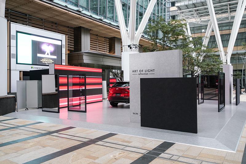 「Tokyo Midtown DESIGN TOUCH 2019」のマツダブース。新型クロスオーバーSUVのCX-30が展示される