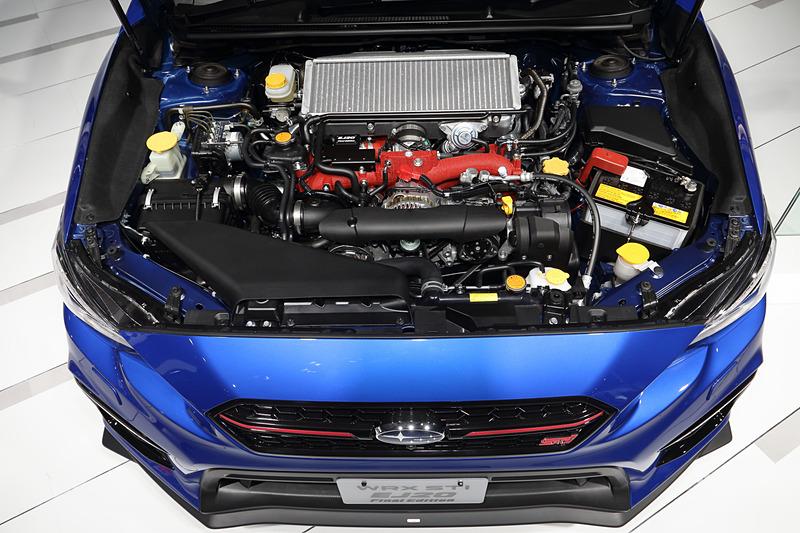 308PSを発生するファイナルモデルにふさわしい特別なEJ20型水平対向エンジン