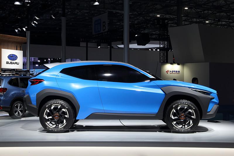スバルのデザインコンセプトDYNAMIC×SOLID(ダイナミックソリッド)」を車種ごとにさらなる進化させた「BOLDER(ボールダー/大胆)」を採用したコンセプトモデルだ