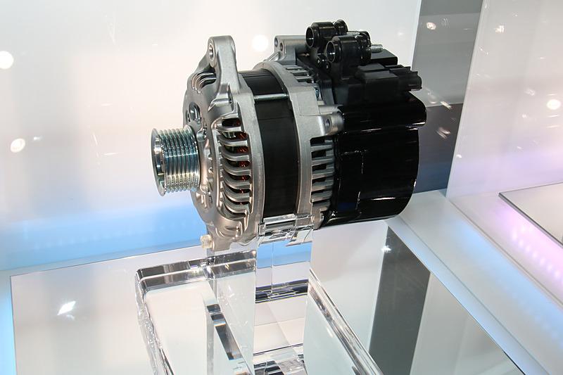 48Vシステム向けのMG。独自の制御技術によって迅速な再始動、エンジン高回転アシストを実現する