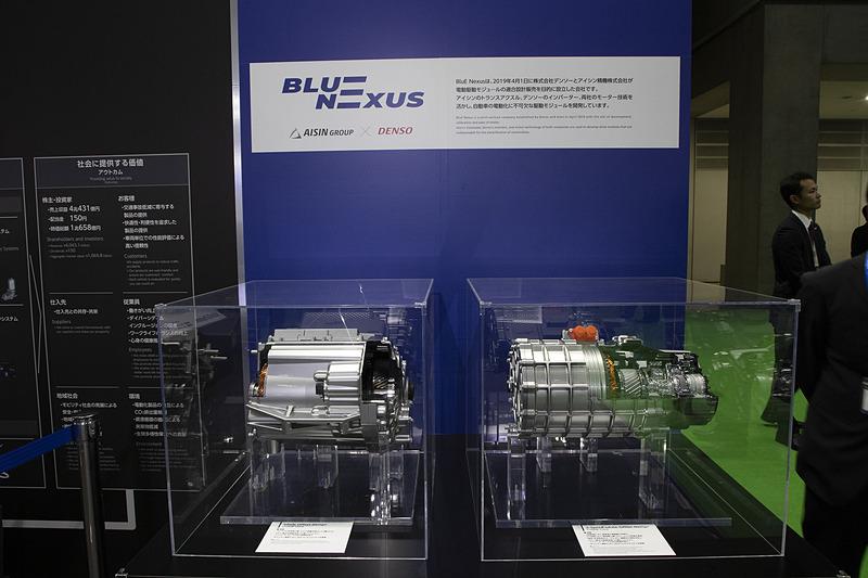 アイシンとデンソーが電動駆動モジュールの適合設計販売を目的に設立した「BluE Nexus」の駆動モジュール