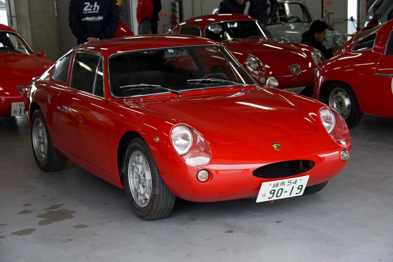 雨の船橋サーキットを走った1000 Bialbero GT(1963年)とそのエンジン