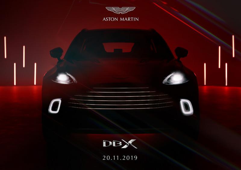 アストンマーティン初のSUV「DBX」は11月20日(現地時間)に中国 北京で発表