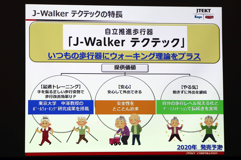 最適なトレーニングと安心、やる気の3つを提供価値とする「J-Walker テクテック」