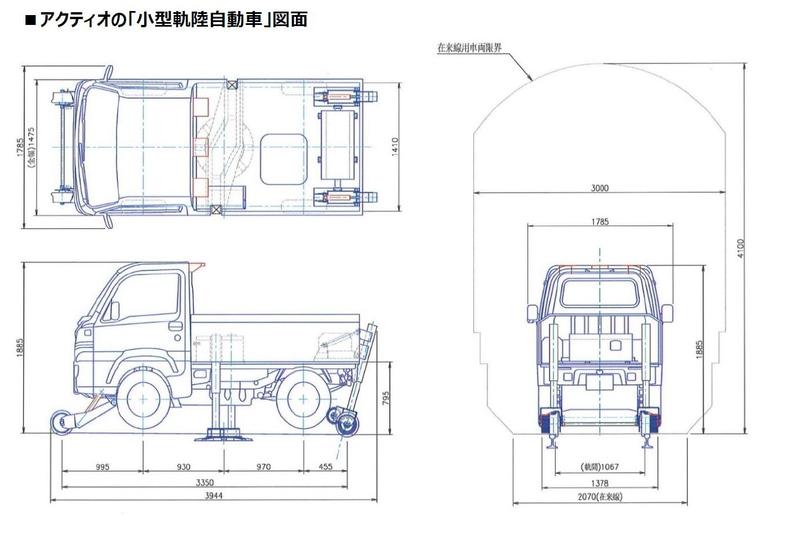 小型軌陸自動車の図面