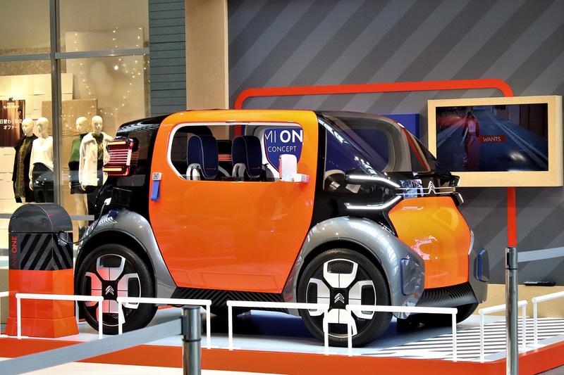 日本初公開された超小型EV(電気自動車)コンセプトカー「AMI ONE CONCEPT」