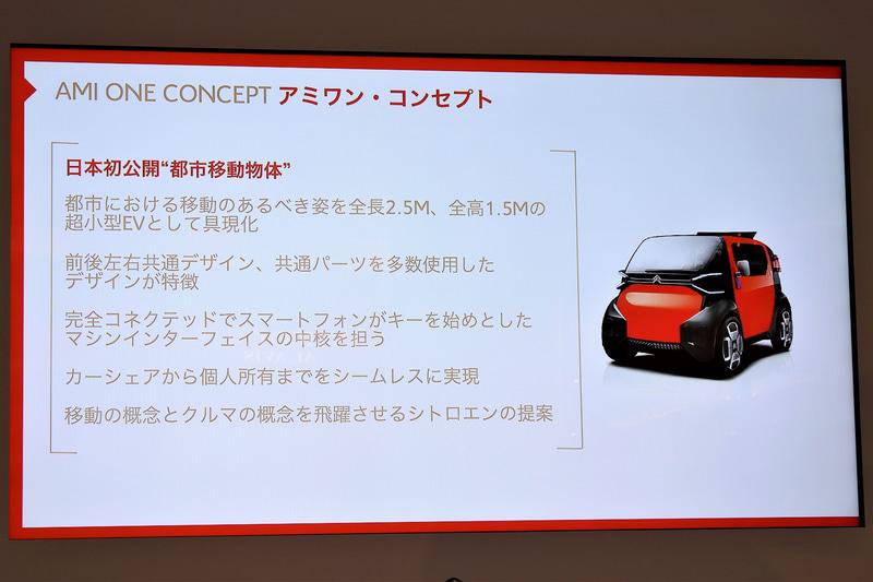 AMI ONE CONCEPTは全長2.5m、全高1.5mの超小型EV