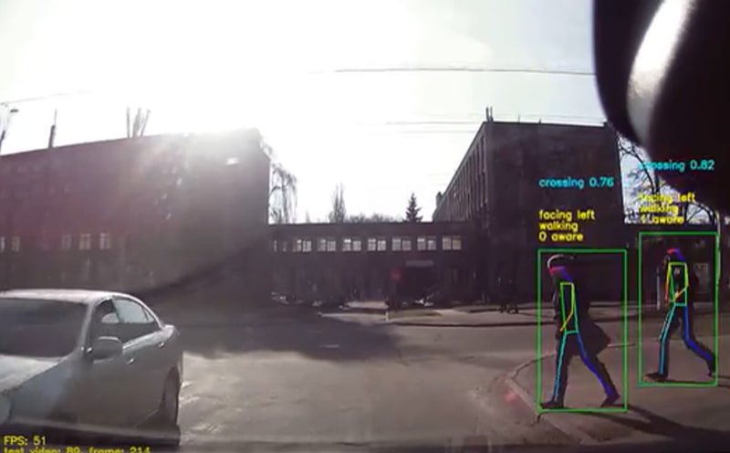 「Valeo Move Predict.ai」では、AIを使って歩行者などの未来位置を予測
