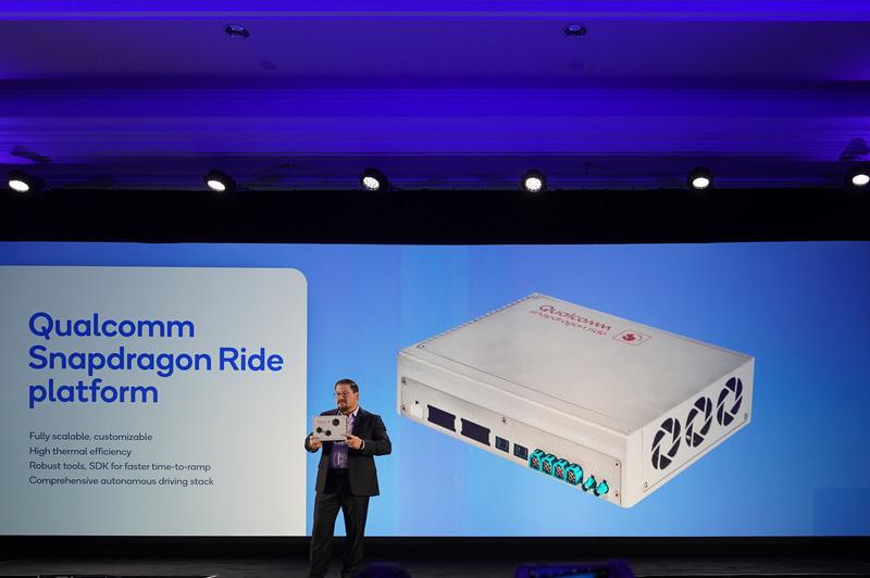 開発キットとなる「Qualcomm Snapdragon Ride Platform」