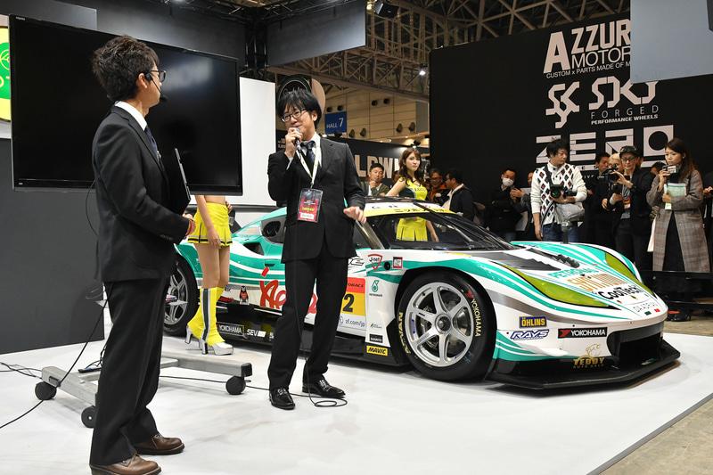 新体制について、車両開発責任者兼チーフエンジニア渡邊信太郎氏が登壇し説明した
