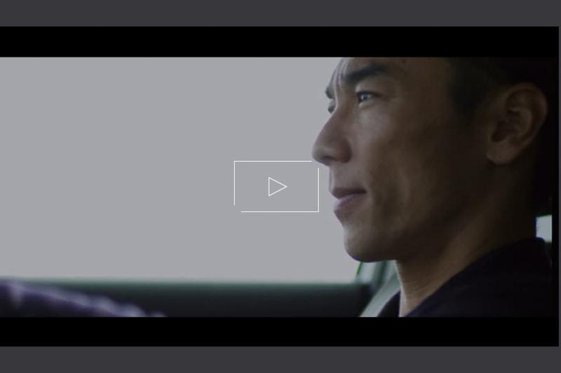 インプレッションをする佐藤琢磨選手